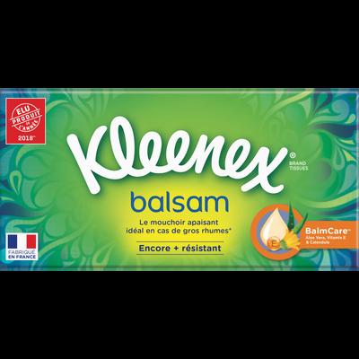 Mouchoirs balsam KLEENEX, boîte de 72