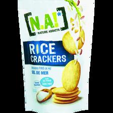 N.A rice crackers sel de mer, sachet de 70g