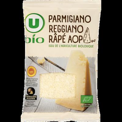 Parmigiano reggiano râpé AOP lait cru U BIO, 30% de MG, 60g