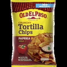 Tortilla chips paprika OLD EL PASO, sachet de 185g