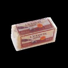 Fromage AOP au lait pasteurisé affiné à la bière, L'Exquis HERVE, 26,6% de MG, 200g