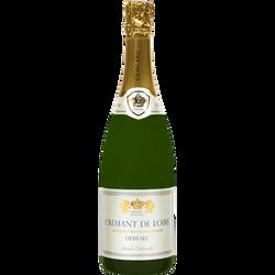"""Crémant blanc de Loire AOP demi-sec """"Princes de Loire"""" U, 75cl"""