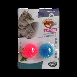 Balles picots menthe x4 cat toy AIME