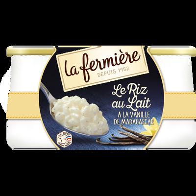Riz au lait à la vanille LA FERMIERE, 2x160g