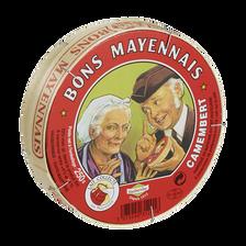 Camembert au lait pasteurisé 22% de MG BONS MAYENNAIS, 250g
