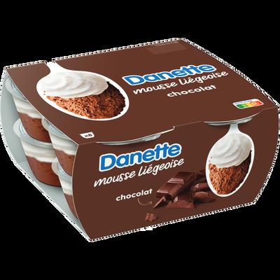 DANETTE mousse liégeoise au chocolat, 8x80g