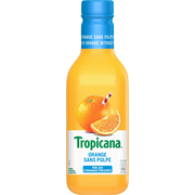 Tropicana Jus D'orange Sans Pulpes Tropicana, Bouteille En Plastique De 90cl