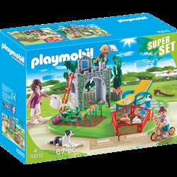 SUPERSET FAMILLE/JARDIN PLAYMOBIL