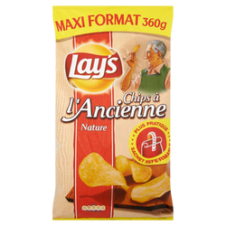 Chips ancienne nature LAY'S, 360g