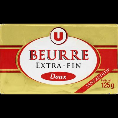 Beurre doux U, 125g