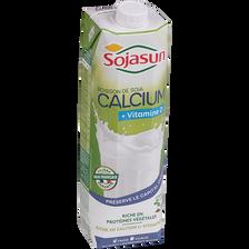 Boisson au soja UHT enrichie en calcium SOJASUN, 1l