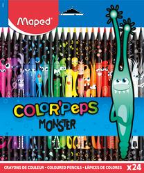 Crayon de couleur Colorpeps Black Monster MAPED x24