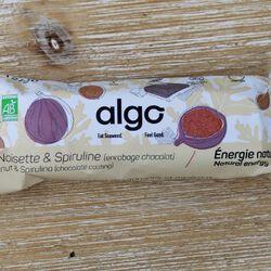 BARRE FIGUE-NOISETTE-CHOCOLAT-SPIRULINE 50G - ALGO BIO