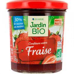 Confiture extra fraise JARDIN BIO 320g