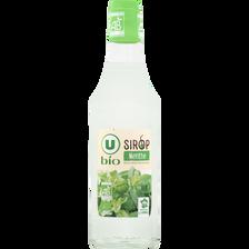 Sirop de menthe U BIO, bouteille de 50cl