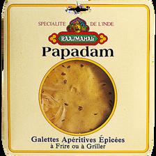 Galettes apéritives épicées Papadams RAAJMAHAL, 100g