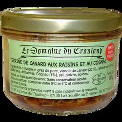 Terrine canard raisins et cognac LE DOMAINE DU CRAULOUP, 180g