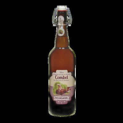 Bière Combel aux marrons d'Ardèche BOURGANEL 5°, bouteille de 75cl