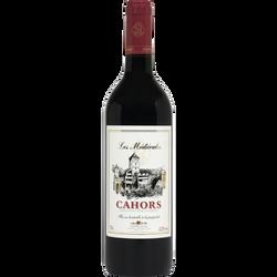 Vin rouge AOC Cahors Les médiévales U, 75cl