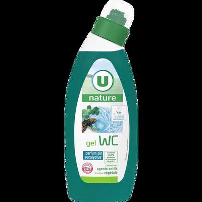 Gel wc parfum pin-eucalyptus U NATURE, bouteille de 750ml