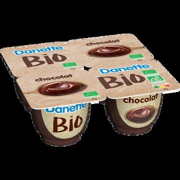 Danone Crème Dessert Chocolat Bio Danette, 4x95g