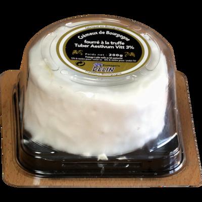 Crémeux de Bourgogne au lait pasteurisé affiné fourré à la truffe DELIN, 40% de MG, 200g