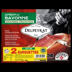Jambon IGP de Bayonne DELPEYRAT 6 grandes tranches 2x150g