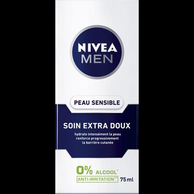 Crème soin apaisant sensitive NIVEA MEN, 75ml