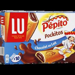 Pockitos gouters chocolat au lait PEPITO, x10 soit 295g