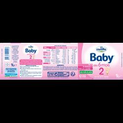 Babylait 2ème âge CANDIA, dès 5 mois, 6x1l