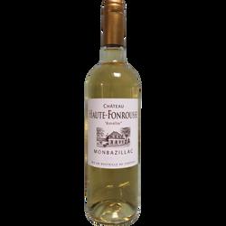 Vin blanc moelleux AOC Monbazillac Chateau Haute-Fonrousse cuvée Amélie, 75cl