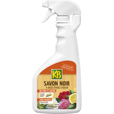 Préparation savon noir KB, à base d'huile d'olive permettant de nettoyer les feuilles des plantes