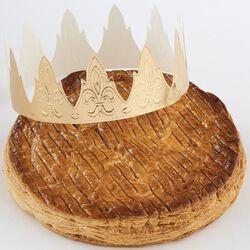 Galette des Rois feuilletée à la frangipane, 8 parts, 660g