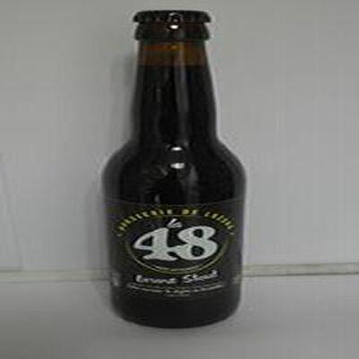 Bière brune Stout La 48 BRASSERIE DE LOZERE 5% Vol., 33cl
