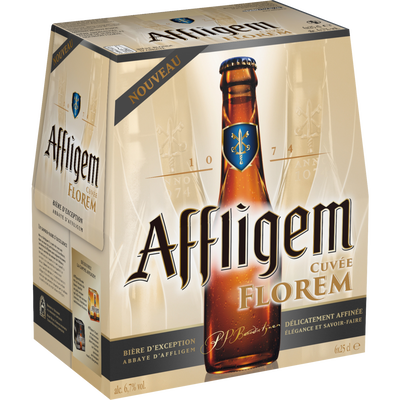 Bière blonde cuvée Florem AFFLIGEM, 6,7°, 6 bouteilles de 25cl