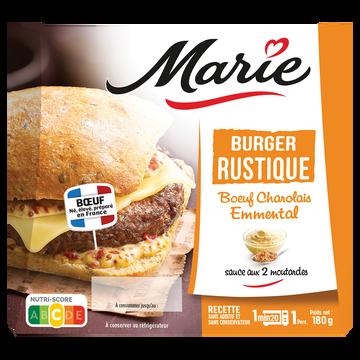 Marie Burger Rustique Boeuf Charolais Cantal Sauce Aux Deux Moutardes Marie,180g