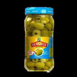 Olives vertes dénoyautées -25% de sel TRAMIER, bocal de 58cl, 260g