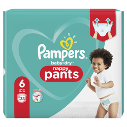 Couches baby dry pants PAMPERS géant taille 6 x33