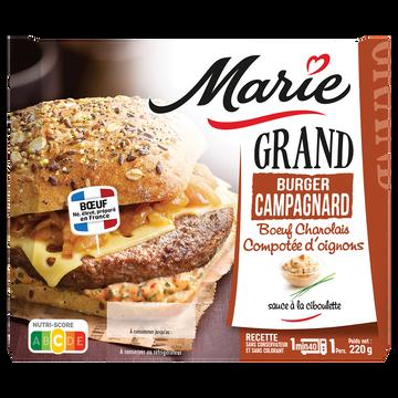 Marie Grand Burger Campagnard Au Boeuf Charolais Et Compotée D