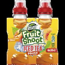 Fruit shoot Ice tea pêche TEISSEIRE, 4 bouteilles de 20cl