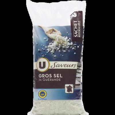 Gros sel De Guerande U SAVEURS, sac de 1kg