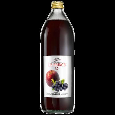 Pur jus de pomme et myrtille sauvage THOMAS LE PRINCE, 1 litre