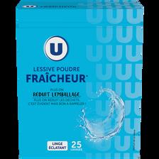 Lessive poudre parfum fraîcheur U 25 lavages (1,375kg)
