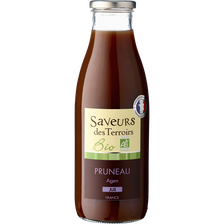 Jus de pruneaux bio SAVEURS DES TERROIRS, bouteille de  75cl