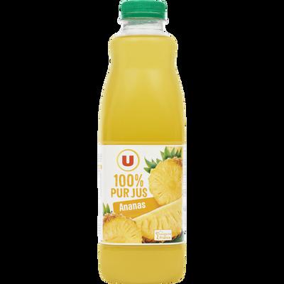 Pur jus d'ananas U, bouteille de 1l