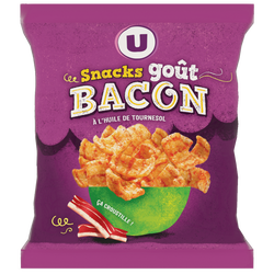 Snacks goût bacon U, sachet de 60g