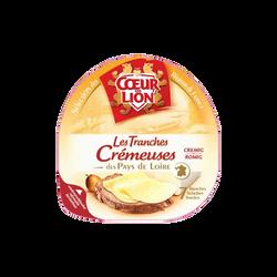 Les  tranche crémeuse lait pasteurisé, COEUR DE LION, 33% de MG, 150g