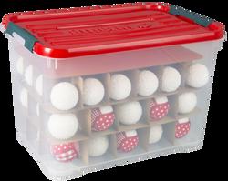Boîte de rangement de noel CURVER 65l avec couvercle christmas box
