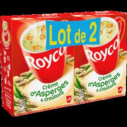 Crème d'asperges et croutons ROYCO, 2x4sachets 160cl