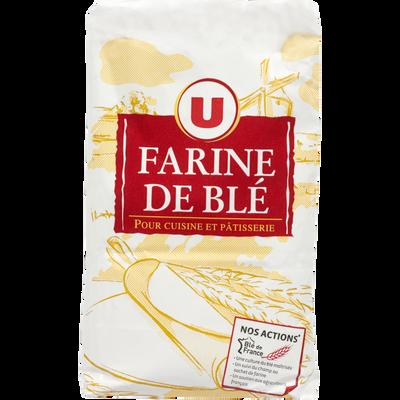Farine de blé patissière T45 U paquet 1Kg